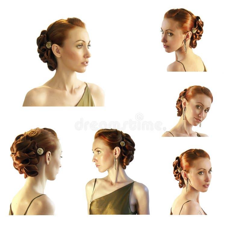 Retrato da menina com hairdress bonitos imagens de stock royalty free