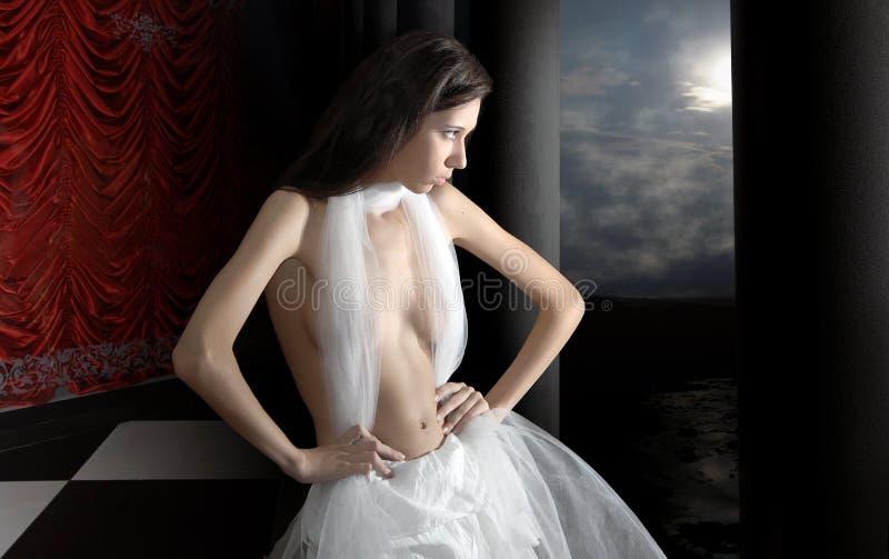 Retrato da menina da beleza foto de stock royalty free