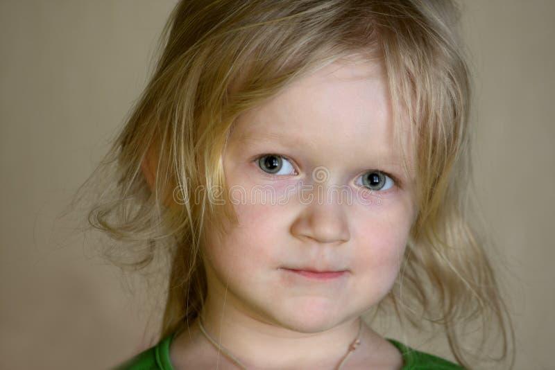 Retrato da menina da criança foto de stock royalty free