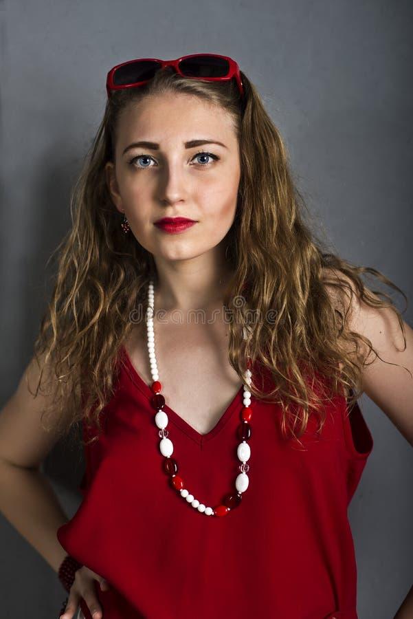 Retrato da menina da forma fotos de stock royalty free