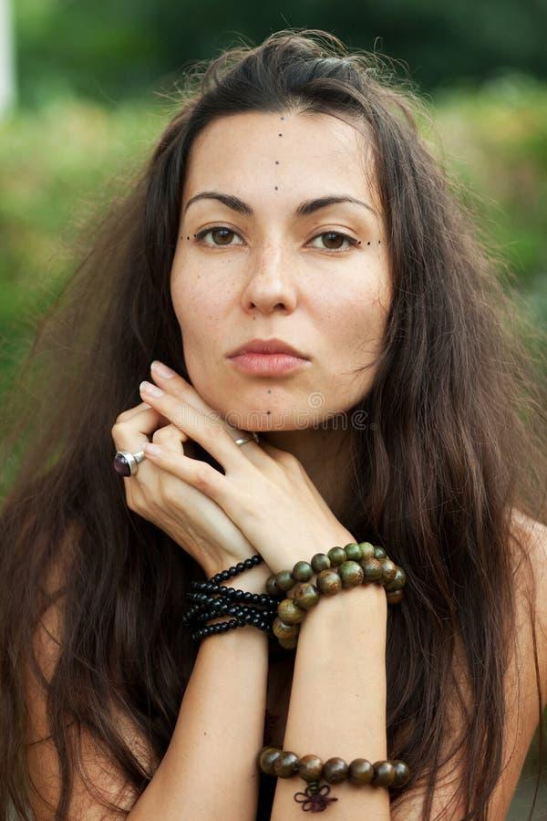 Retrato da menina da hippie foto de stock royalty free