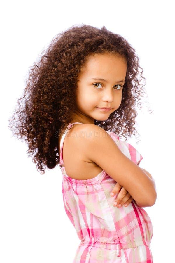 Retrato da menina da raça misturada imagem de stock