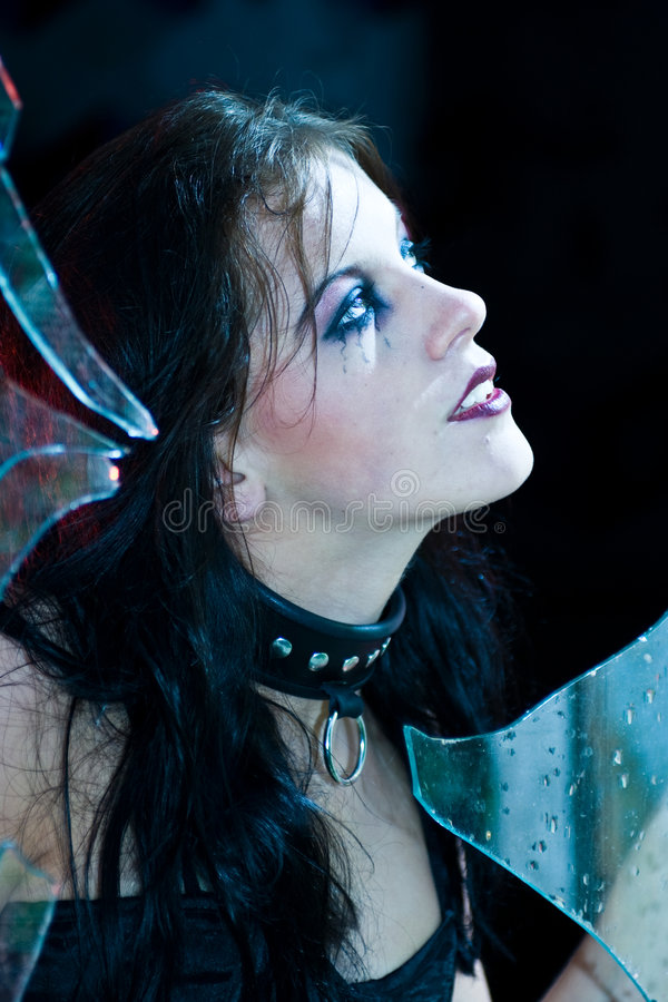Retrato da menina de Goth fotografia de stock