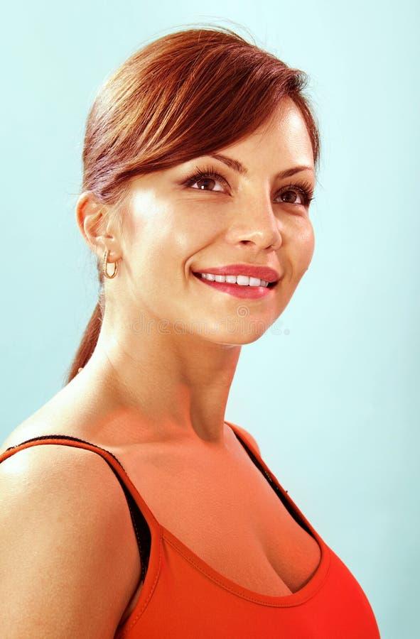 Retrato da menina de sorriso foto de stock royalty free