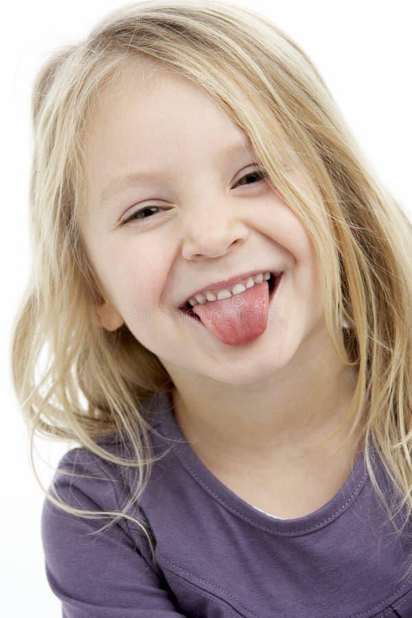 Retrato da menina de sorriso dos anos de idade 4 imagem de stock