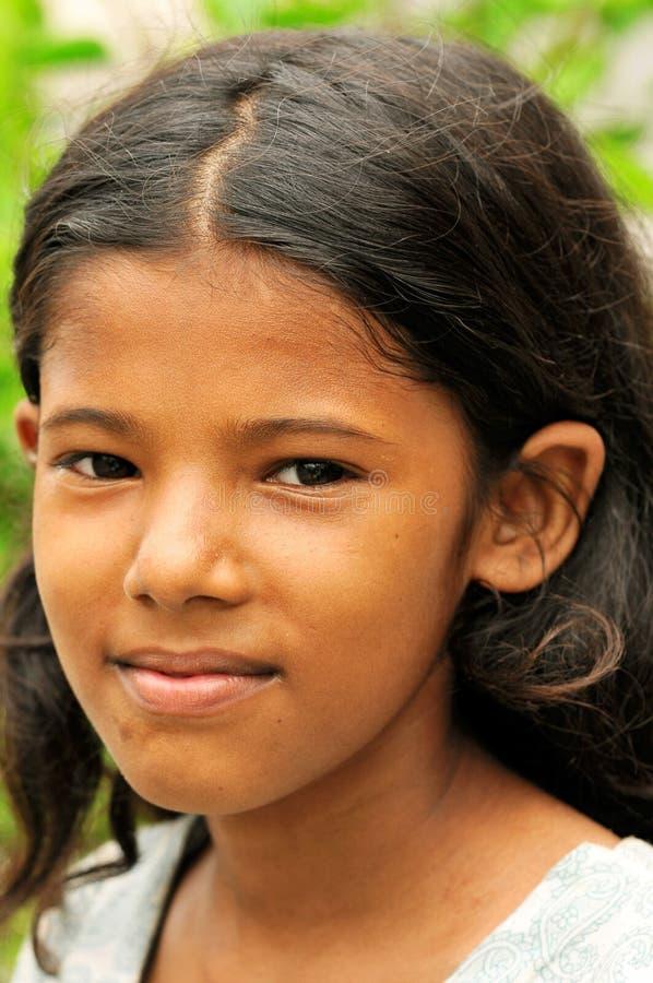 Retrato da menina de Youn fotografia de stock