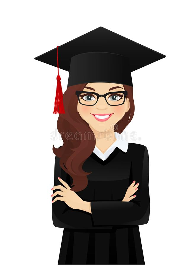 Retrato da menina do estudante ilustração royalty free
