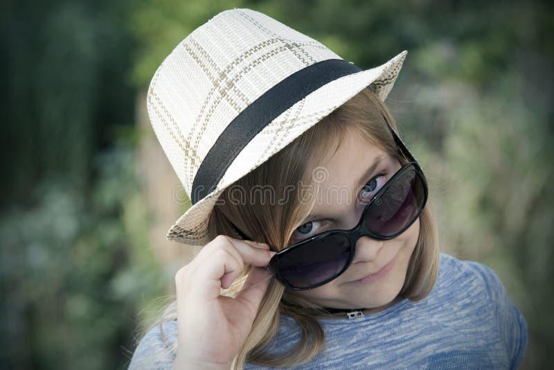 Retrato da menina do Grunge fotografia de stock royalty free