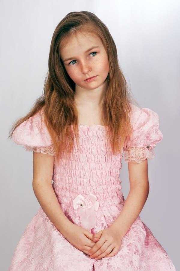 Retrato da menina do littlel fotografia de stock royalty free