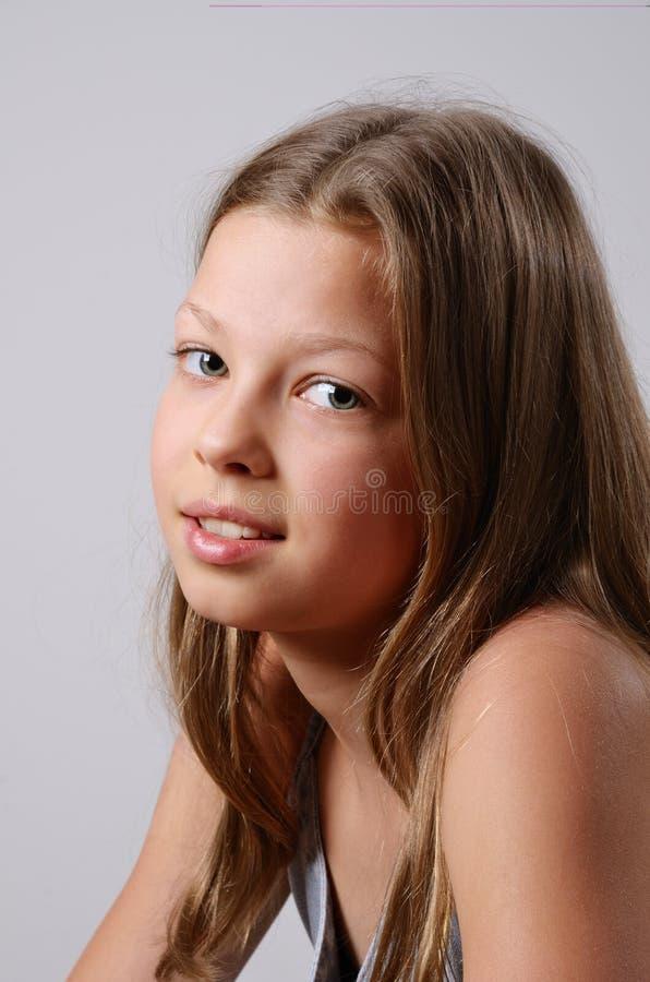 Retrato da menina do preteen foto de stock royalty free