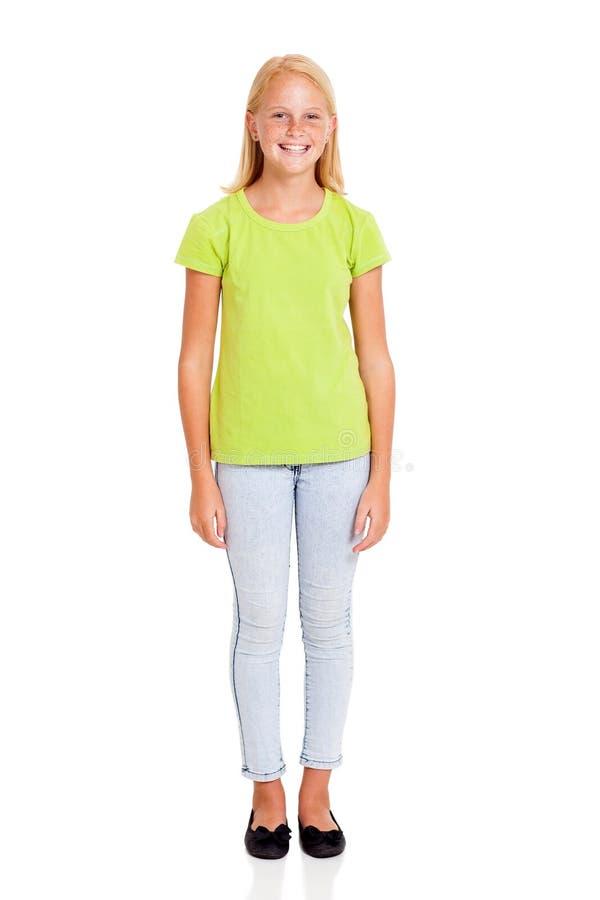 Retrato da menina do Preteen fotografia de stock