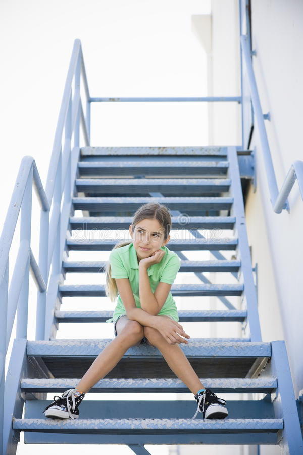 Retrato da menina do Tween foto de stock royalty free