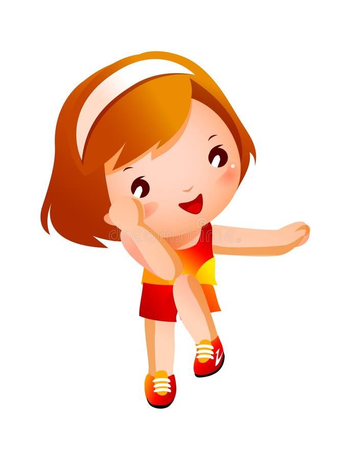 Retrato da menina feliz ilustração stock