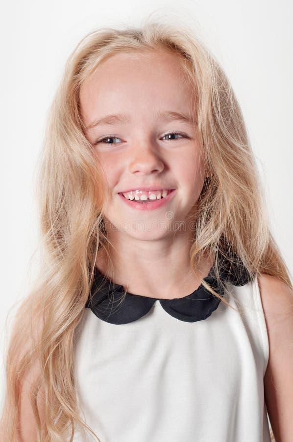 Retrato da menina feliz fotografia de stock royalty free