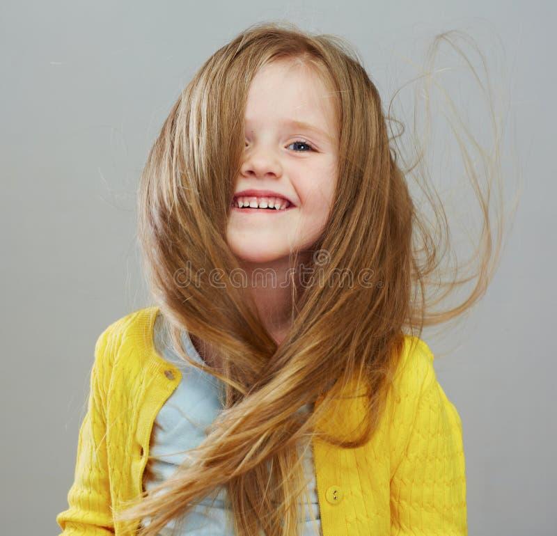 Retrato da menina da forma com cabelo louro longo foto de stock royalty free