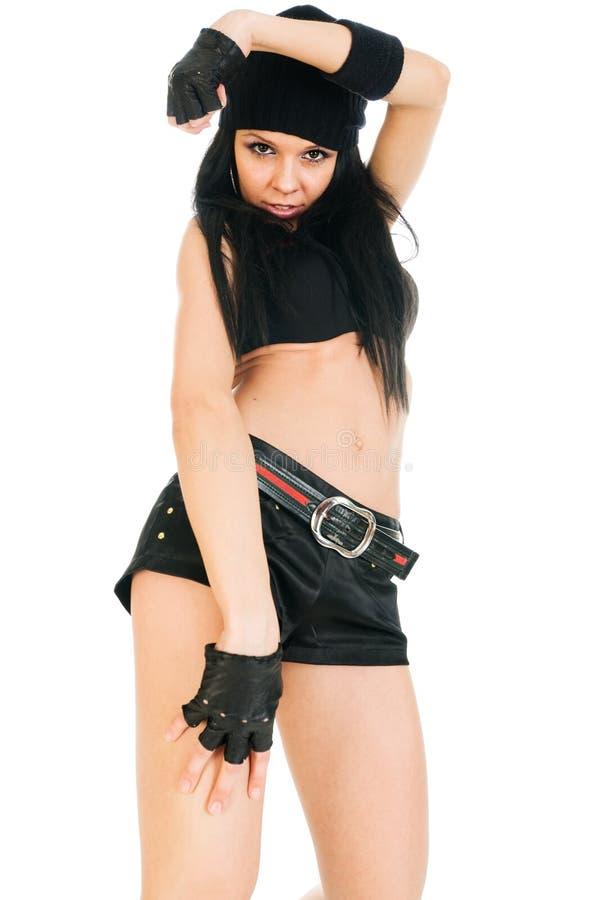 Retrato da menina fresca de hip-hop fotografia de stock royalty free