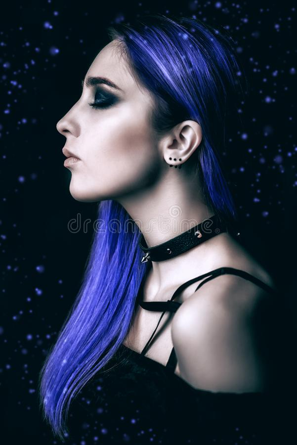 Retrato da menina gótico fotos de stock royalty free