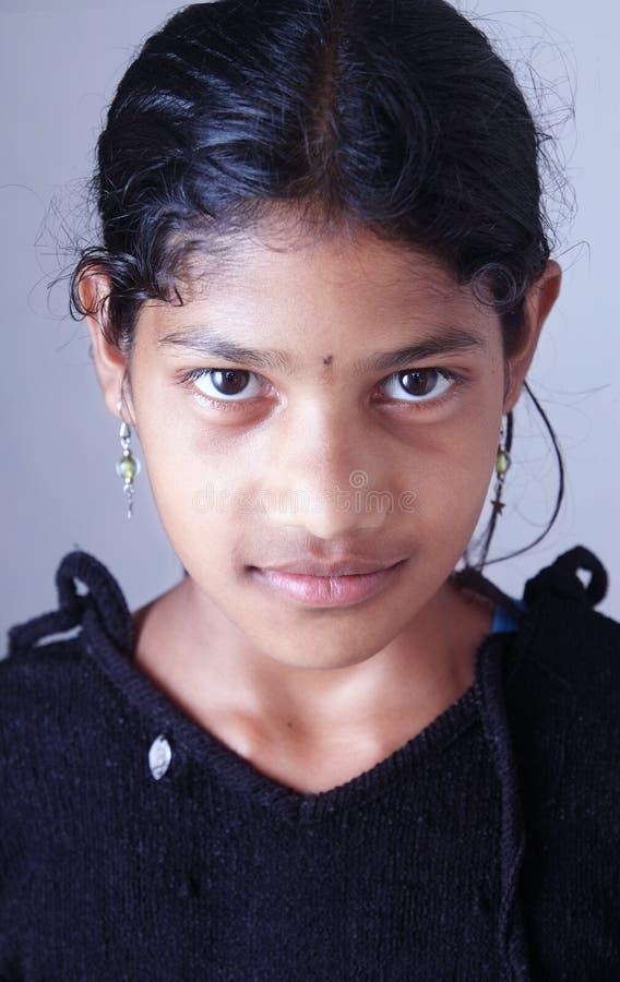 Retrato da menina indiana da vila fotos de stock royalty free