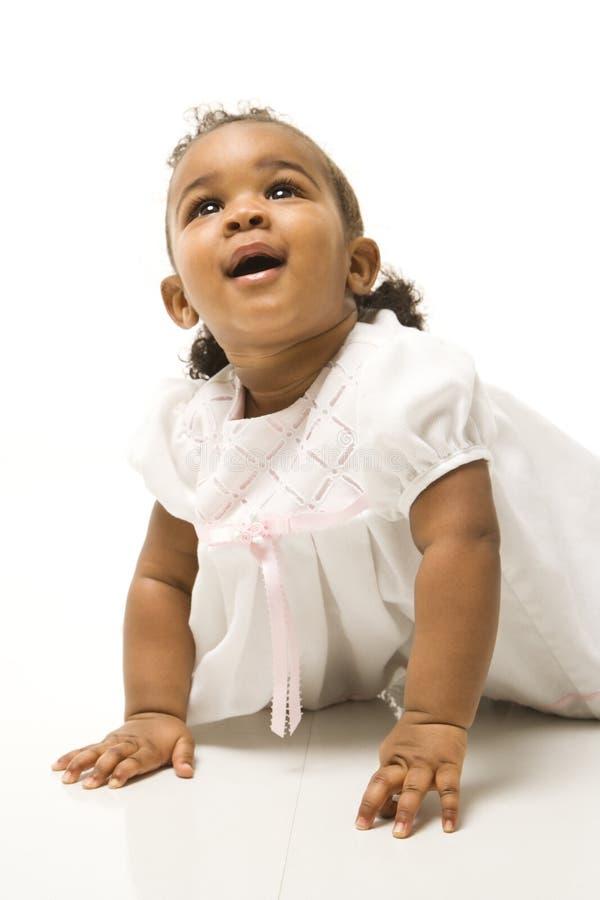 Retrato da menina infantil. imagem de stock