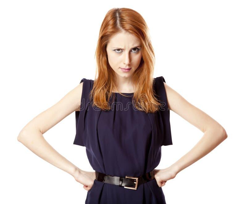 Retrato da menina irritada bonita. fotos de stock royalty free