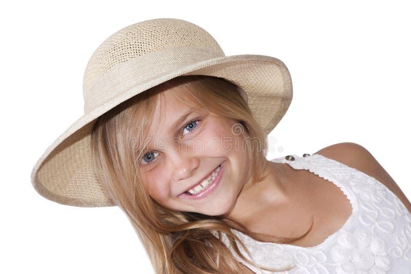 Retrato da menina loura imagem de stock