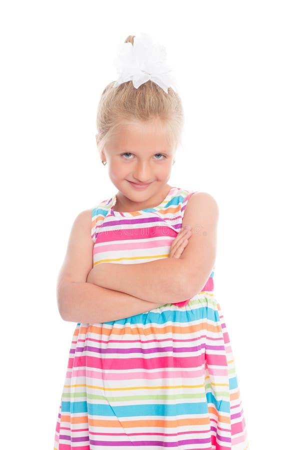 Retrato da menina loura foto de stock royalty free