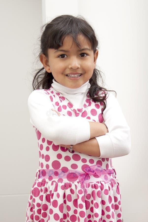Retrato da menina nova, sorrindo fotografia de stock royalty free