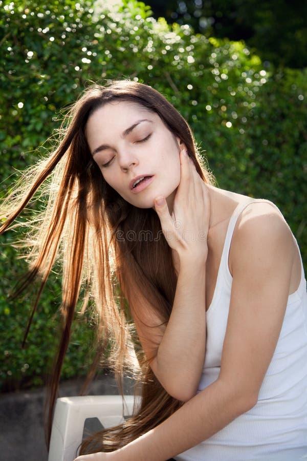 Retrato da menina sensual bonita imagens de stock
