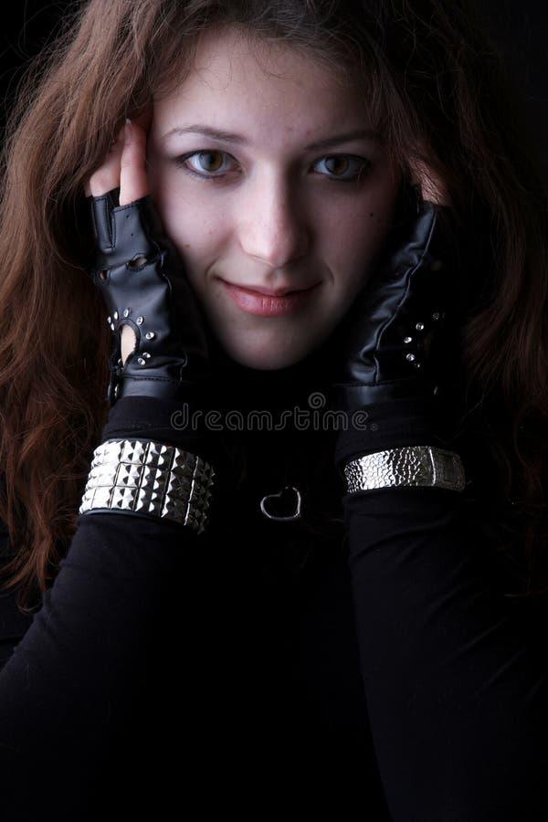 Retrato da menina, sorriso fotografia de stock