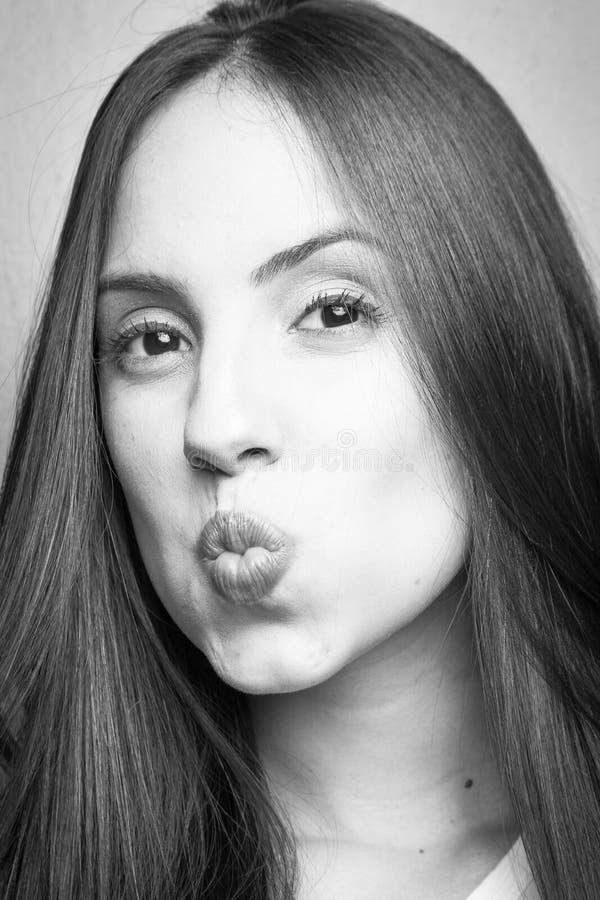 Retrato da moça imagens de stock