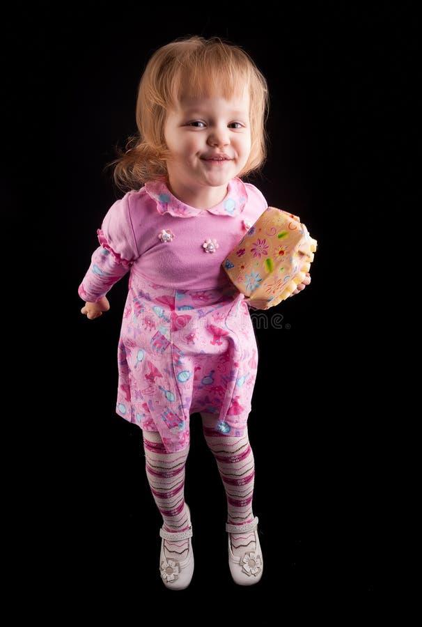 Retrato da moça adorável imagem de stock