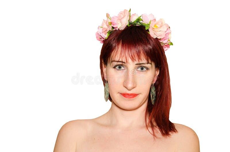 Retrato da mola da mulher romântica imagens de stock royalty free