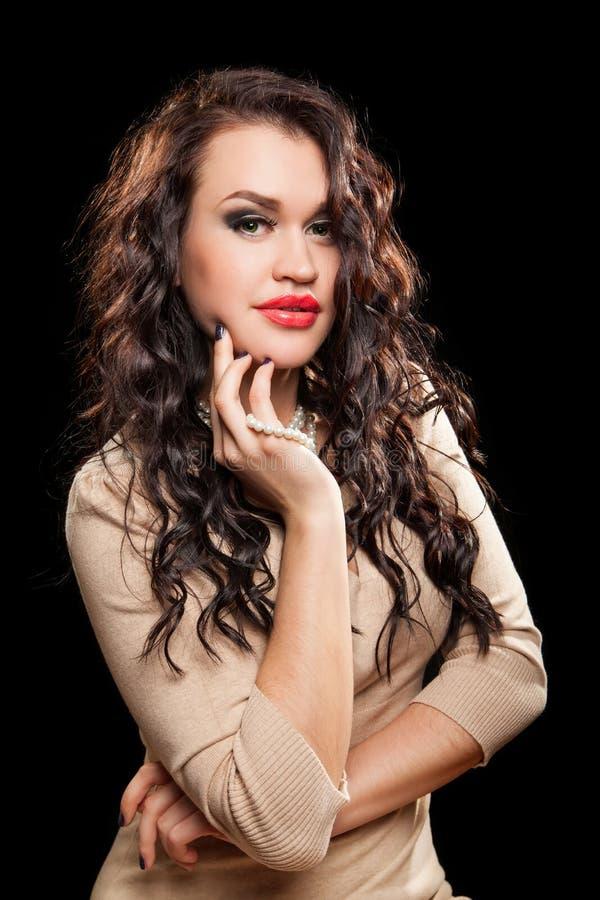 Retrato da mulher à moda bonita imagens de stock royalty free