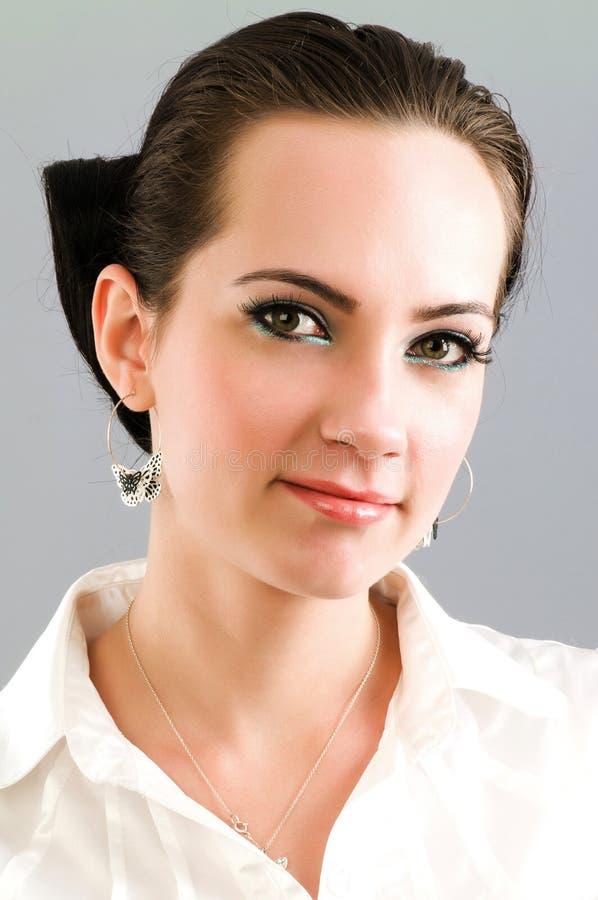 Download Retrato da mulher imagem de stock. Imagem de preto, pouco - 12811117