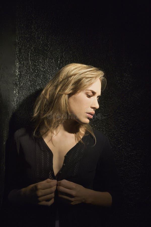 Retrato da mulher. fotografia de stock