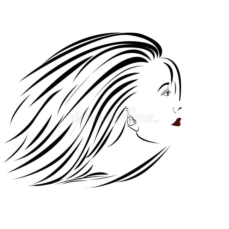 Retrato da mulher ilustração royalty free