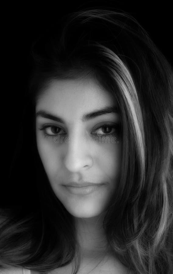 Download Retrato da mulher imagem de stock. Imagem de senhora, branco - 60755
