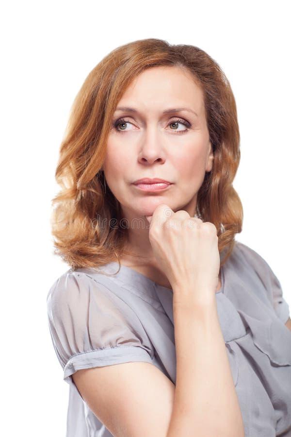 Retrato da mulher adulta bonita fotografia de stock royalty free