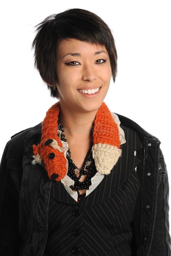 Retrato da mulher americana asiática fotografia de stock royalty free