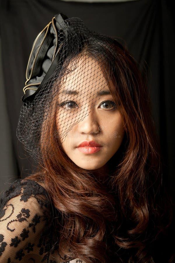 Retrato da mulher asiática foto de stock