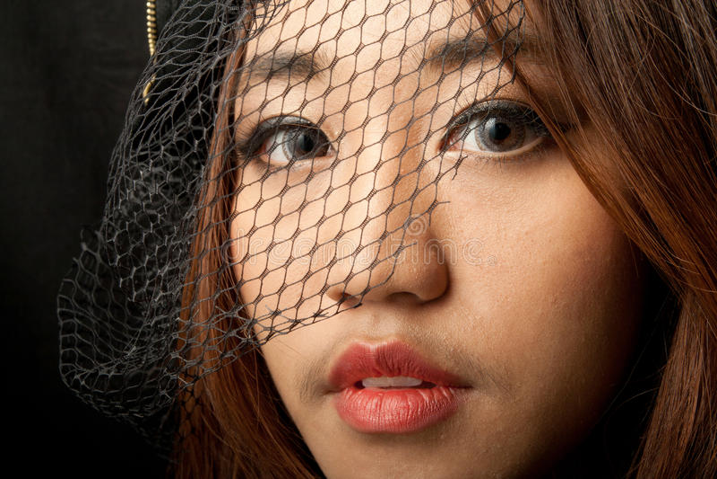 Retrato da mulher asiática imagens de stock