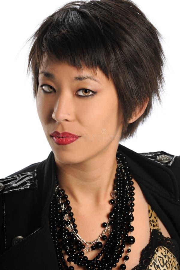 Retrato da mulher asiática fotografia de stock royalty free