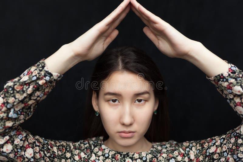Retrato da mulher asiática fotos de stock royalty free