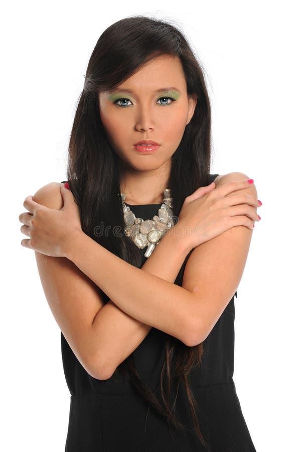 Retrato da mulher asiática nova fotografia de stock royalty free