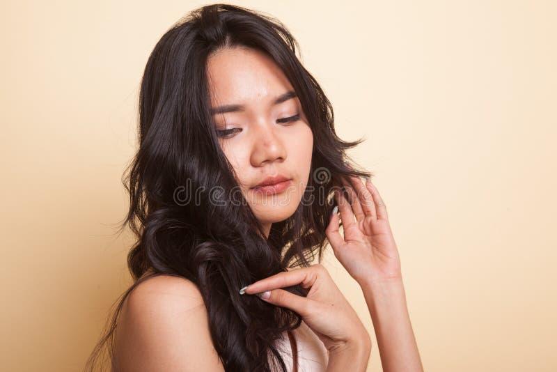 Retrato da mulher asiática nova bonita imagem de stock royalty free