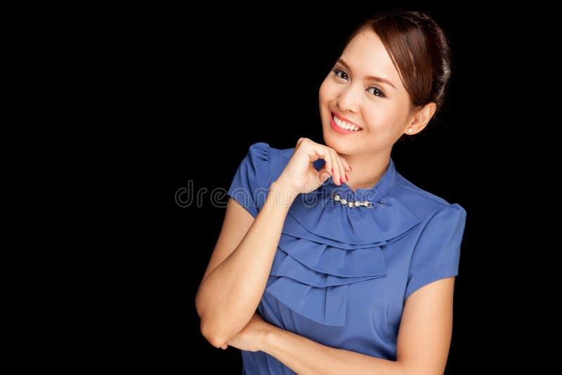 Retrato da mulher asiática nova bonita foto de stock