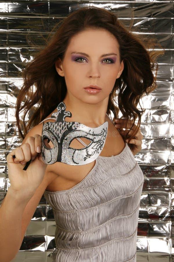 Retrato da mulher bonita atrativa fotografia de stock royalty free