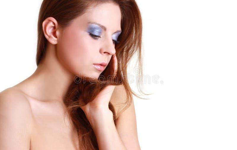 Retrato da mulher bonita atrativa foto de stock royalty free
