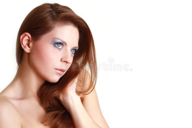 Retrato da mulher bonita atrativa imagem de stock