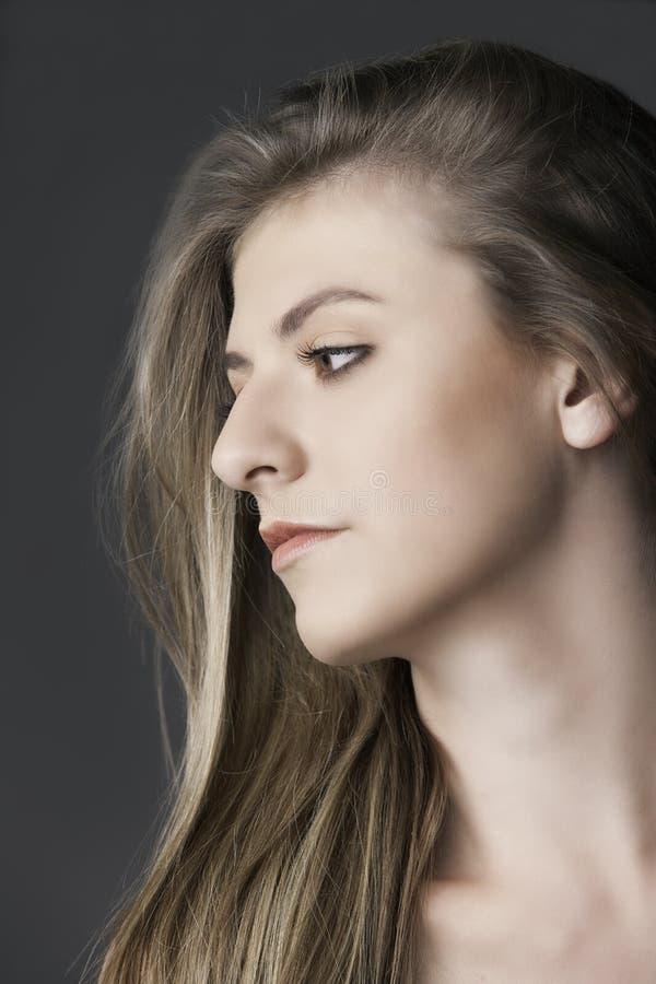 Retrato da mulher bonita natural nova imagem de stock